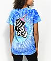 Slushcult Slushgod Bones Blue Tie Dye T-Shirt