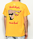 Slushcult Thick Thighs Gold T-Shirt