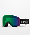 Smith Skyline Black & Everyday Green Snowboard Goggles