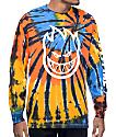 Spitfire Big Head Hombre camiseta de manga larga con efecto tie dye