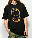 Spitfire Bighead Flame camiseta negra
