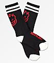 Spitfire Heads Up calcetines negros, rojos y blancos para niños