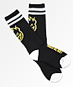 Spitfire Heads Up calcetines para niños en negro y amarillo
