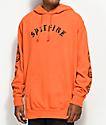 Spitfire Old English Orange & Black Hoodie