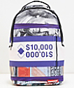 Sprayground Purple Money Stack Backpack