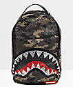 Sprayground Shark mochila de malla camuflada
