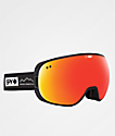 Spy Doom Essential Black Red Spectra Snowboard Goggles