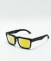 Spy Helm Matte Black & Gold Sunglasses