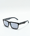 Spy Helm Matte Black & Grey Silver Mirror Sunglasses