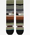 Stance Boys Hatchets Brown & Olive Green Striped Crew Socks