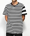 Stance Mariner camiseta de rayas en blanco y negro