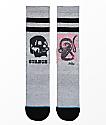 Stance Oblow Snake Grey Crew Socks
