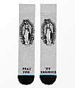 Stance Pray For Enemies Grey Crew Socks