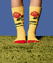 Stance X Chinatown Market Thanks Rose Yellow & Red Crew Socks