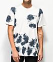 Stance camiseta negra con bolsillo y efecto tie dye