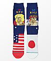 Stance x Street Fighter Ryu Vs. Ken Crew Socks
