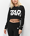 Starter Crop Black Long Sleeve Top