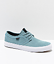 State Bishop Aqua & White Suede Skate Shoes