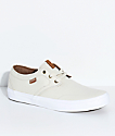 State Bishop Cream & White Canvas Skate Shoes