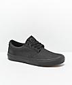 State Elgin Black Denim & Black Skateboard Shoes