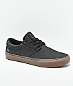 State Elgin Grey & Gum Denim Skate Shoes