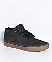 State Mercer Black Denim & Gum Skate Shoes