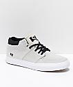 State Mercer Bone White & Black Suede Skate Shoes