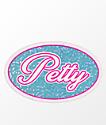 Stickie Bandits Petty Blue & Baby Pink Sparkle Sticker