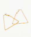 "Stone + Locket 2"" Triangle Hoop Earrings"