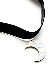 Stone + Locket Black Velvet Moon Crystal Choker