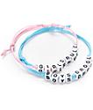 Stone + Locket Girls Rule Boys Drool Bracelet