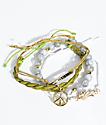 Stone + Locket Marble Peace Bracelet 4 Pack