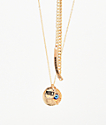 Stone + Locket Seeing Eye Gold Necklace & Bracelet 2 Pack