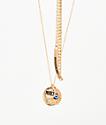 Stone + Locket Seeing Eye collar y pulsera de oro paquete de 2