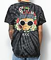 Succ Clout camiseta negra con efecto tie dye