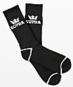 Supra  Crown Black Crew Socks