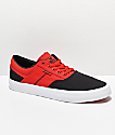 Supra Cobalt Black, Risk Red & White Skate Shoes