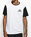 Supra Crown Two Toned White & Black T-Shirt