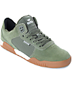Supra Ellington Olive & Gum Suede Skate Shoes