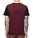 Supra International Seal Two Toned Burgundy & Black T-Shirt