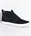 Supra Kensington Black & White Suede Skate Shoes