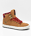 Supra Kids Vaider CW Bone Brown & Plaid Shoes