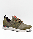 Supra Scissor Olive & Stone Pleated Shoes
