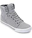Supra Skytop Light Grey & Navy Knit Skate Shoes