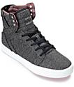 Supra Skytop Microchip Grey Kids Skate Shoes