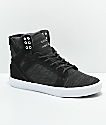 Supra Skytop Reflective Black & Charcoal Skate Shoes