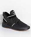 Supra Skytop V zapatos en negro, plata y goma