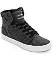 Supra Skytop Washed zapatos de skate en lona negra