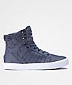 Supra Skytop zapatos de skate en blanco y azul marino