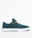Supra Stacks II Vulc Evergeen & White Skate Shoes